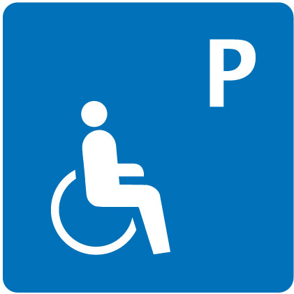 Parking place wheelchair-accessible