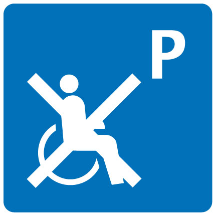 Parking place not wheelchair-accessible